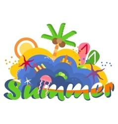 bright summer logo vector image vector image