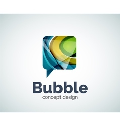 Bubble logo template vector image
