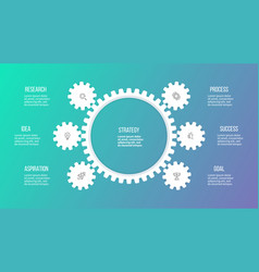business hierarchy infographic organization chart vector image