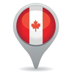 Canada flag pointer vector