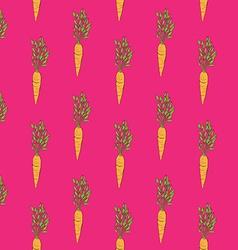 carrot monotonous pattern vector image vector image