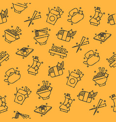 chinese food concept icons pattern vector image