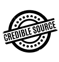 Credible source rubber stamp vector