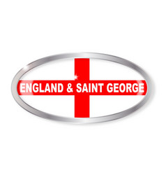 england and saint george oval button vector image vector image