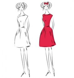 Fashiongirlred vector