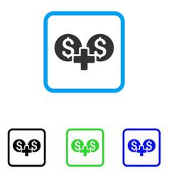 Financial sum framed icon vector