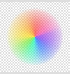 gradient rainbow color circle vector image vector image