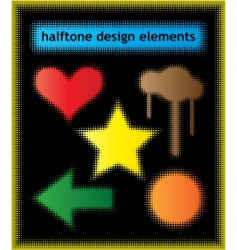 halftone design elements vector image
