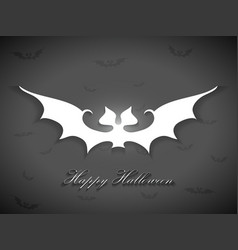 Halloween bats greetings card vector
