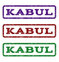 kabul watermark stamp vector image