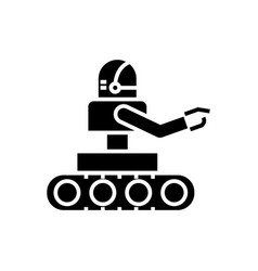 manufacturing robot icon vector image vector image