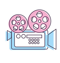 movie camera to projection scene vector image vector image