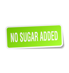 No sugar added square sticker on white vector