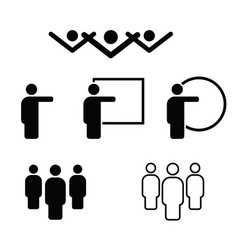 people icon in black and white color vector image vector image
