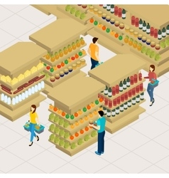 People shopping vector