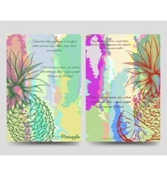 Pineapples bright brochure flyer template vector image
