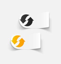 Realistic design element arrow recycling vector