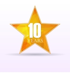 Star background anniversary 10 vector image vector image