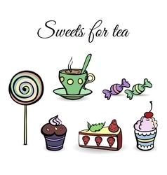 SweetsSet vector image vector image