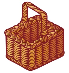 wicker basket vector image vector image
