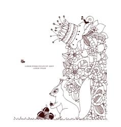 Zen tangle squirrel with vector