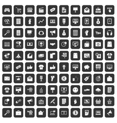 100 internet marketing icons set black vector