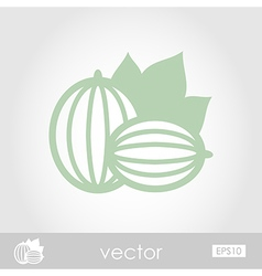 Gooseberry outline icon berry fruit vector