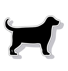 Dog animal pet mascot isolated icon vector