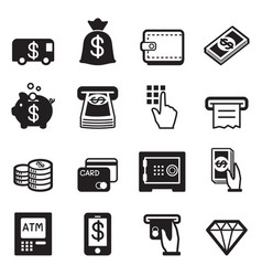Money finance banking credit card icons vector