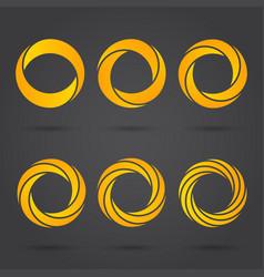 golden zeros segmented logo signs vector image