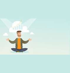 peaceful business woman doing yoga vector image