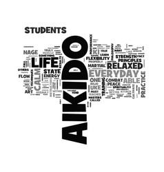 Aikido everyday in life text word cloud concept vector