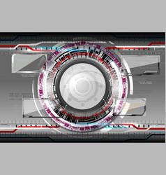 Abstract futuristic eyeball vector