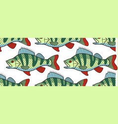 Bass fish pattern vector