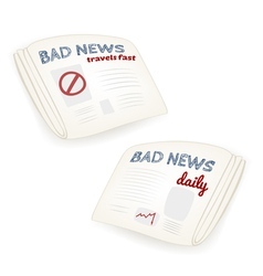 Bad news daily newspaper vector