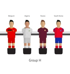 Table football soccer players group h - belgium vector