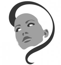 Fashion girl symbol vector