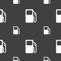 Auto gas station icon sign seamless pattern on a vector