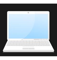 white laptop vector image