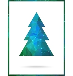 Christmas tree card design perfect as vector