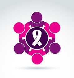 Breast cancer awareness idea of a group of vector