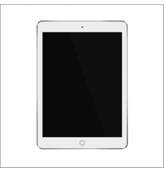 White realistic smart tablet with blank black vector image