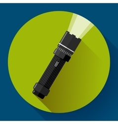 Flashlight icon flat design style vector