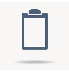 blue clipboard flat icon vector image