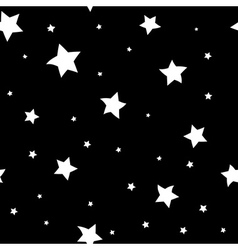 Star seamless pattern Black and white big vector image