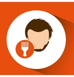Male hairstyle design vector