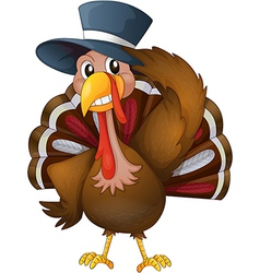 A turkey with a hat vector image