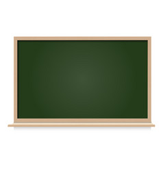 Black board blank space isolated vector