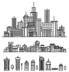 City and elements for design vector