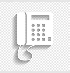 Communication or phone sign white icon vector